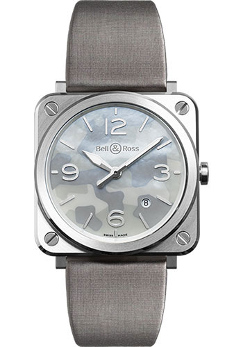 Bell & Ross Watches - BR-S Quartz Grey Camouflage - Style No: BR-S Grey Camouflage