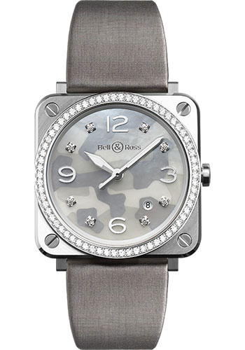 Bell & Ross Watches - BR-S Quartz Grey Camouflage - Style No: BR-S Grey Camouflage Diamonds