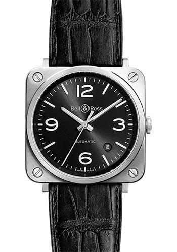 Bell & Ross Watches - BR-S Mechanical Officer - Style No: BR-S Officer Black