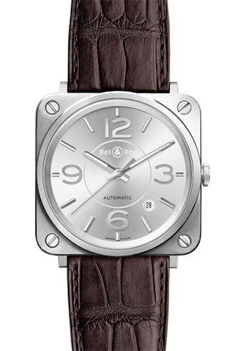 Bell & Ross Watches - BR-S Mechanical Officer - Style No: BR-S Officer Silver