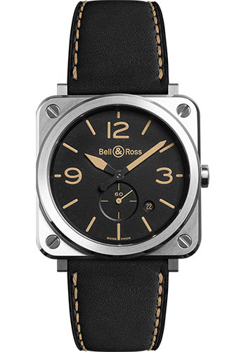 Bell & Ross Watches - BR-S Quartz Heritage - Style No: BR-S Steel Heritage