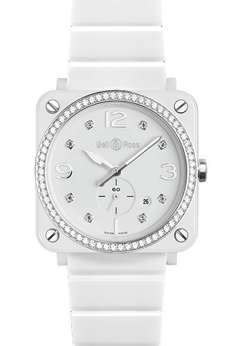 Bell & Ross Watches - BR-S Quartz White Ceramic - Style No: BR-S White Ceramic Diamond Ceramic Bracelet