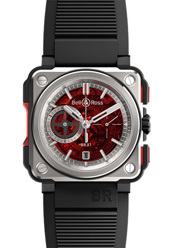 Bell & Ross Watches - BR-X1 Skeleton Chronograph Red II Edition - Style No: BR-X1 Red II
