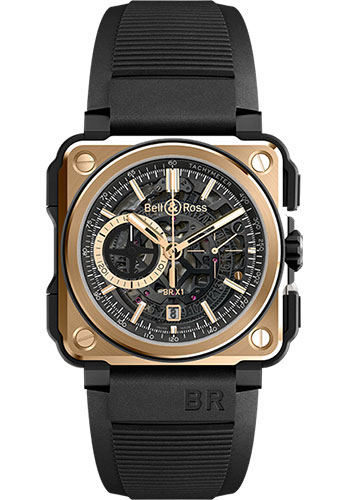 Bell & Ross Watches - BR-X1 Chronograph Rose Gold and Ceramic - Style No: BRX1-CE-PG