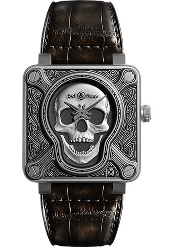 Bell & Ross Watches - BR 01-92 Automatic Burning Skull - Style No: BR 01-92 Burning Skull