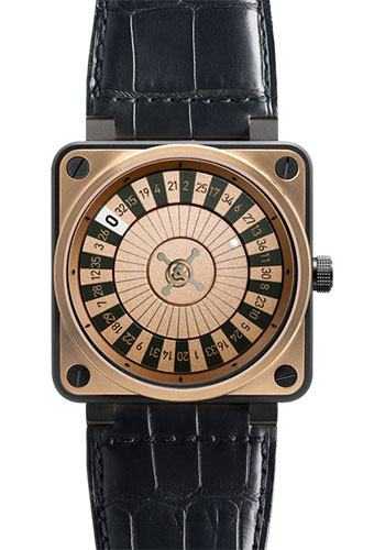 Bell & Ross Watches - BR 01-92 Automatic Casino - Style No: BR 01-92 Casino Rose Gold & Carbon