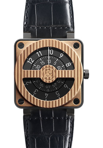 Bell & Ross Watches - BR 01-92 Automatic Compass - Style No: BR 01-92 Compass Rose Gold & Carbon