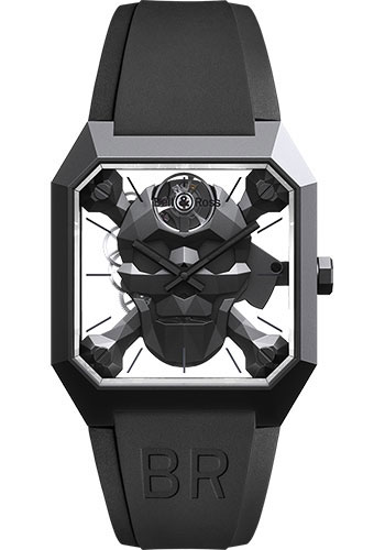 Bell & Ross Watches - BR 01 Skull Cyber - Style No: BR01-CSK-CE/SRB