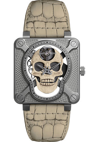 Bell & Ross Watches - BR 01 Laughing Skull - Style No: BR01-SKULL-O-SK-ST