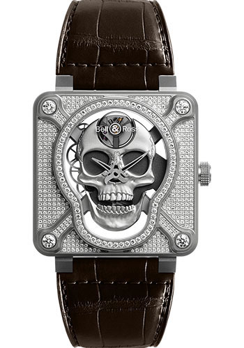 Bell & Ross Watches - BR 01 Laughing Skull - Style No: BR01-SKULL-SK-FLD