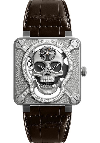 Bell & Ross Watches - BR 01 Laughing Skull - Style No: BR01-SKULL-SK-LGD