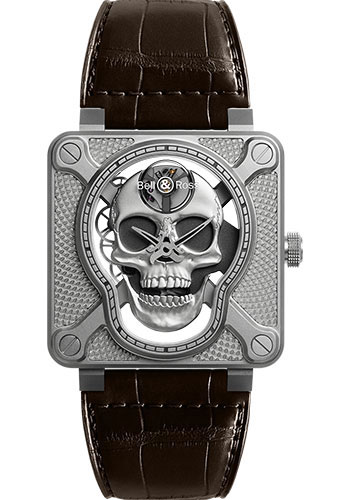 Bell & Ross Watches - BR 01 Laughing Skull - Style No: BR01-SKULL-SK-ST