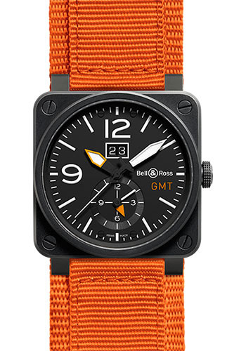 Bell & Ross Watches - BR 03-51 GMT Carbon - Style No: BR0351-GMT-CA