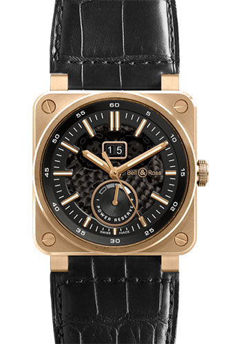 Bell & Ross Watches - BR 03-90 Big Date Power Reserve Rose Gold - Style No: BR0390-PINKGOLD
