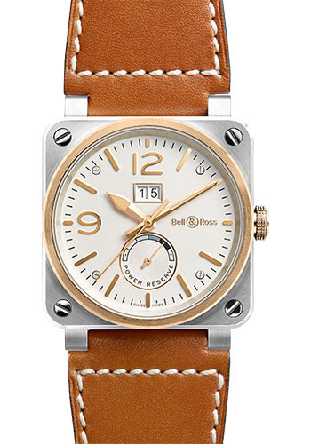 Bell & Ross Watches - BR 03-90 Big Date Power Reserve Steel and Rose Gold - Style No: BR 03-90 Steel & Rose Gold