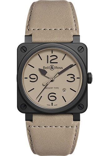 Bell & Ross Watches - BR 03-92 Automatic Desert Type - Style No: BR 03-92 Desert Type