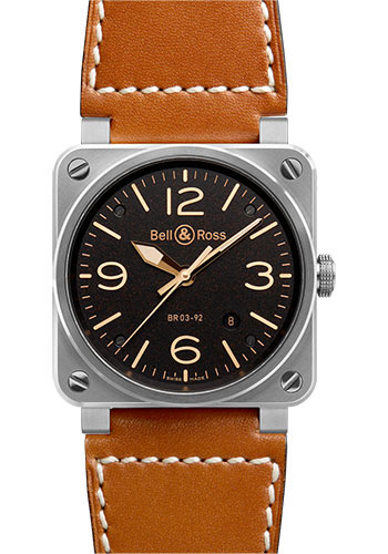 Bell & Ross Watches - BR 03-92 Automatic Golden Heritage - Style No: BR 03-92 Golden Heritage