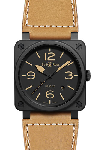 Bell & Ross Watches - BR 03-92 Automatic Heritage - Style No: BR 03-92 Heritage Ceramic