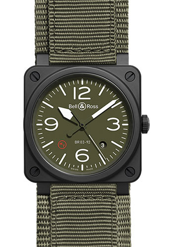 Bell & Ross Watches - BR 03-92 Automatic Military - Style No: BR0392-MIL-CE