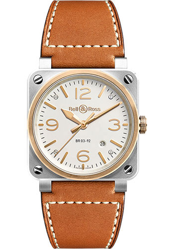 Bell & Ross Watches - BR 03-92 Automatic Bicolor - Style No: BR 03-92 Steel & Rose Gold