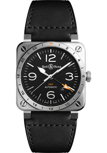 Bell & Ross Watches - BR 03-93 GMT - Style No: BR0393-GMT-ST/SCA