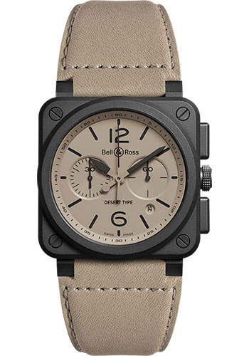 Bell & Ross Watches - BR 03-94 Chronograph Desert Type - Style No: BR0394-DESERT-CE