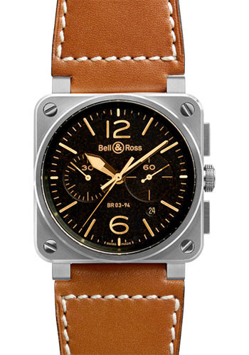 Bell & Ross Watches - BR 03-94 Chronograph Heritage - Style No: BR 03-94 Golden Heritage