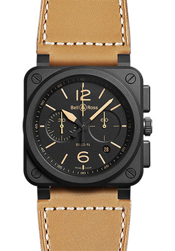 Bell & Ross Watches - BR 03-94 Chronograph Heritage - Style No: BR0394-HERI-CE