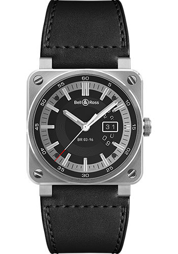 Bell & Ross Watches - BR 03-96 Grande Date Steel - Style No: BR 03-96 Grande Date Steel