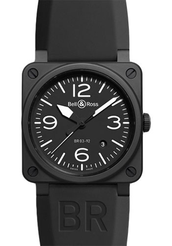 Bell & Ross Watches - BR 03-92 Automatic Black Matt Ceramic - Style No: BR 03-92 Matte