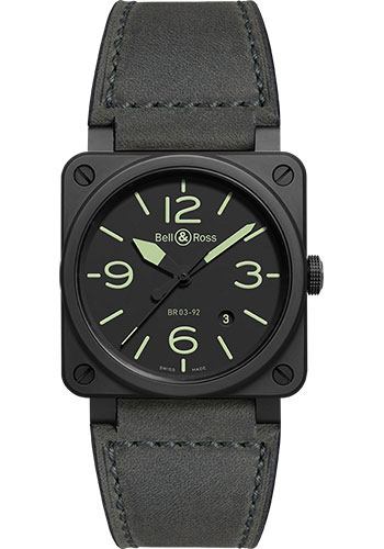 Bell & Ross Watches - BR 03-92 Automatic Nightlum - Style No: BR0392-BL3-CE/SCA