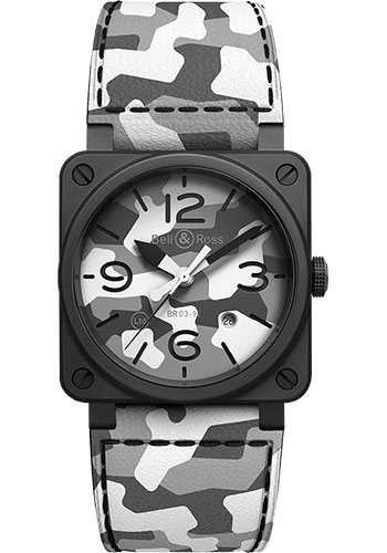 Bell & Ross Watches - BR 03-92 Automatic White Camo - Style No: BR0392-CG-CE/SCA