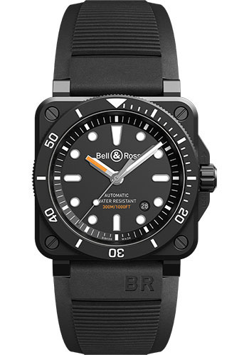 Bell & Ross Watches - BR 03-92 Automatic Diver - Style No: BR0392-D-BL-CE/SRB