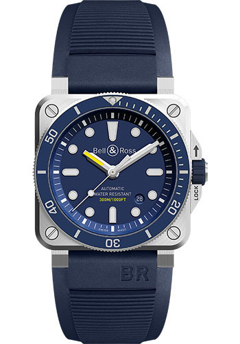 Bell & Ross Watches - BR 03-92 Automatic Diver - Style No: BR0392-D-BU-ST/SRB