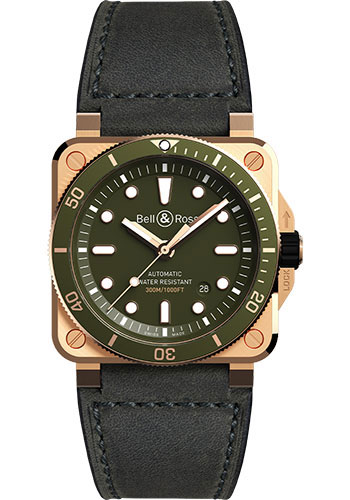 Bell & Ross Watches - BR 03-92 Automatic Diver - Style No: BR0392-D-G-BR/SCA