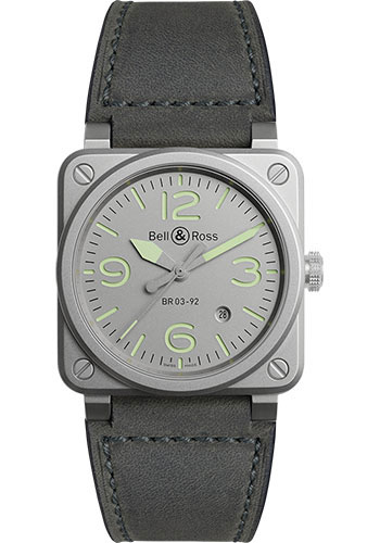 Bell & Ross Watches - BR 03-92 Automatic Horolum - Style No: BR0392-GR-ST/SCA
