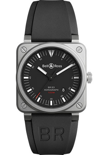 Bell & Ross Watches - BR 03-92 Automatic Horograph - Style No: BR0392-HOR-BLC/SRB