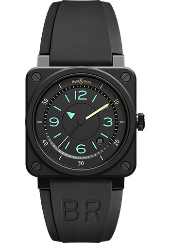 Bell & Ross Watches - BR 03-92 Automatic Bi-Compass - Style No: BR0392-IDC-CE/SRB