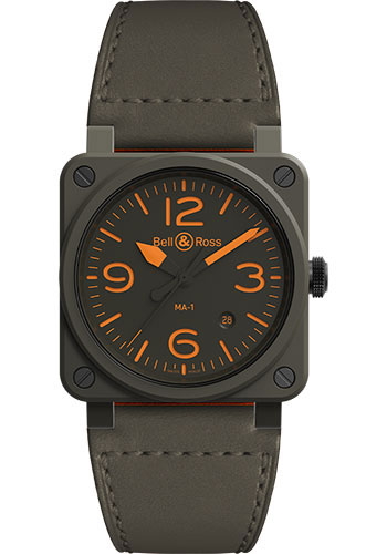 Bell & Ross Watches - BR 03-92 Automatic MA-1 - Style No: BR0392-KAO-CE/SCA