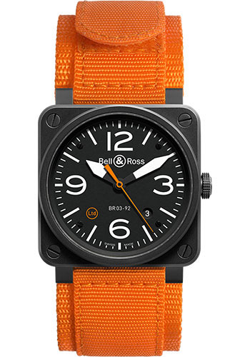 Bell & Ross Watches - BR 03-92 Automatic Orange Carbon - Style No: BR0392-O-CA