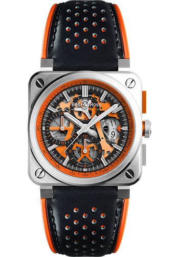 Bell & Ross Watches - BR 03-94 Chronograph AeroGT - Style No: BR0394-SC-ORA/SCA