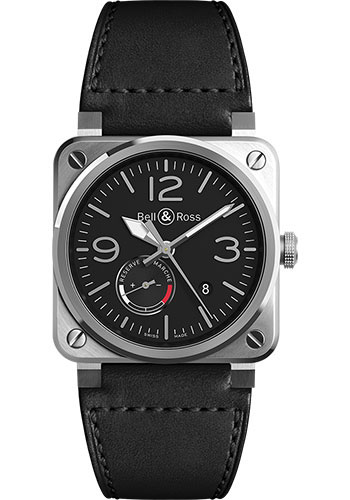 Bell & Ross Watches - BR 03-97 Power Reserve - Style No: BR0397-BL-SI/SCA/2