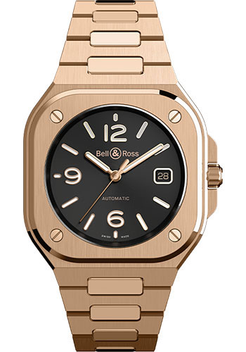 Bell & Ross Watches - BR 05 Gold - Style No: BR05A-BL-PG/SPG