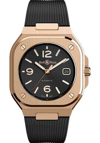 Bell & Ross Watches - BR 05 Gold - Style No: BR05A-BL-PG/SRB