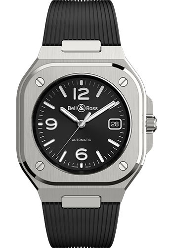 Bell & Ross Watches - BR 05 Black Steel - Style No: BR05A-BL-ST/SRB