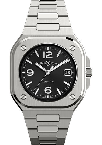Bell & Ross Watches - BR 05 Black Steel - Style No: BR05A-BL-ST/SST