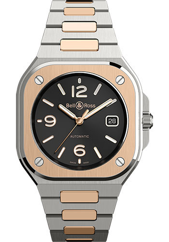 Bell & Ross Watches - BR 05 Black Steel and Gold - Style No: BR05A-BL-STPG/SSG