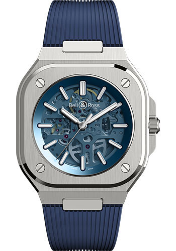 Bell & Ross Watches - BR 05 Skeleton Blue - Style No: BR05A-BLU-SKST/SRB