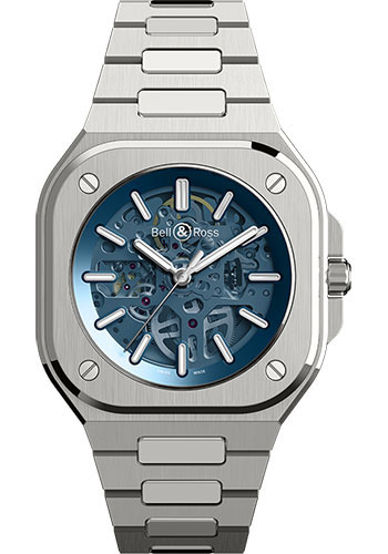 Bell & Ross Watches - BR 05 Skeleton Blue - Style No: BR05A-BLU-SKST/SST