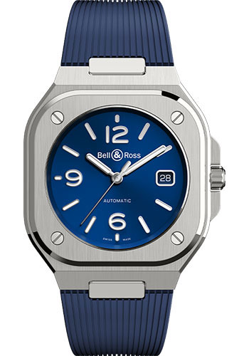 Bell & Ross Watches - BR 05 Blue Steel - Style No: BR05A-BLU-ST/SRB